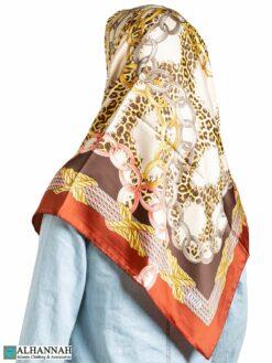 Leopard Rings Turkish Square Hijab hi2330