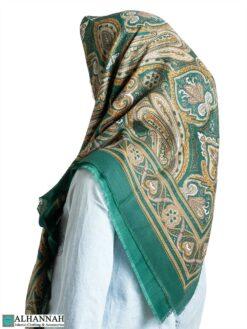 Paisley Fringed Italian Square Hijab hi2313