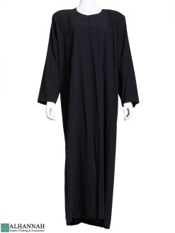 Pleated Black Abaya ab811