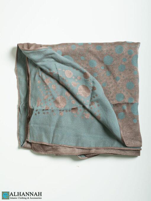 Polka Dot Reversible Square Hijab hi2332