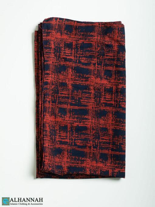 Red Painted Shayla Hijab hi2307