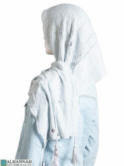 Rose Applique Tasseled Shayla Hijab hi2334