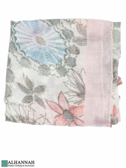 Shayla Wrap Hijab Pastel Watercolors Pink