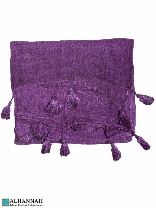 Shayla Wrap Hijab with Tassels -Violet