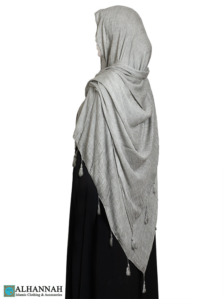 Shayla Wrap Hijab with Tassels