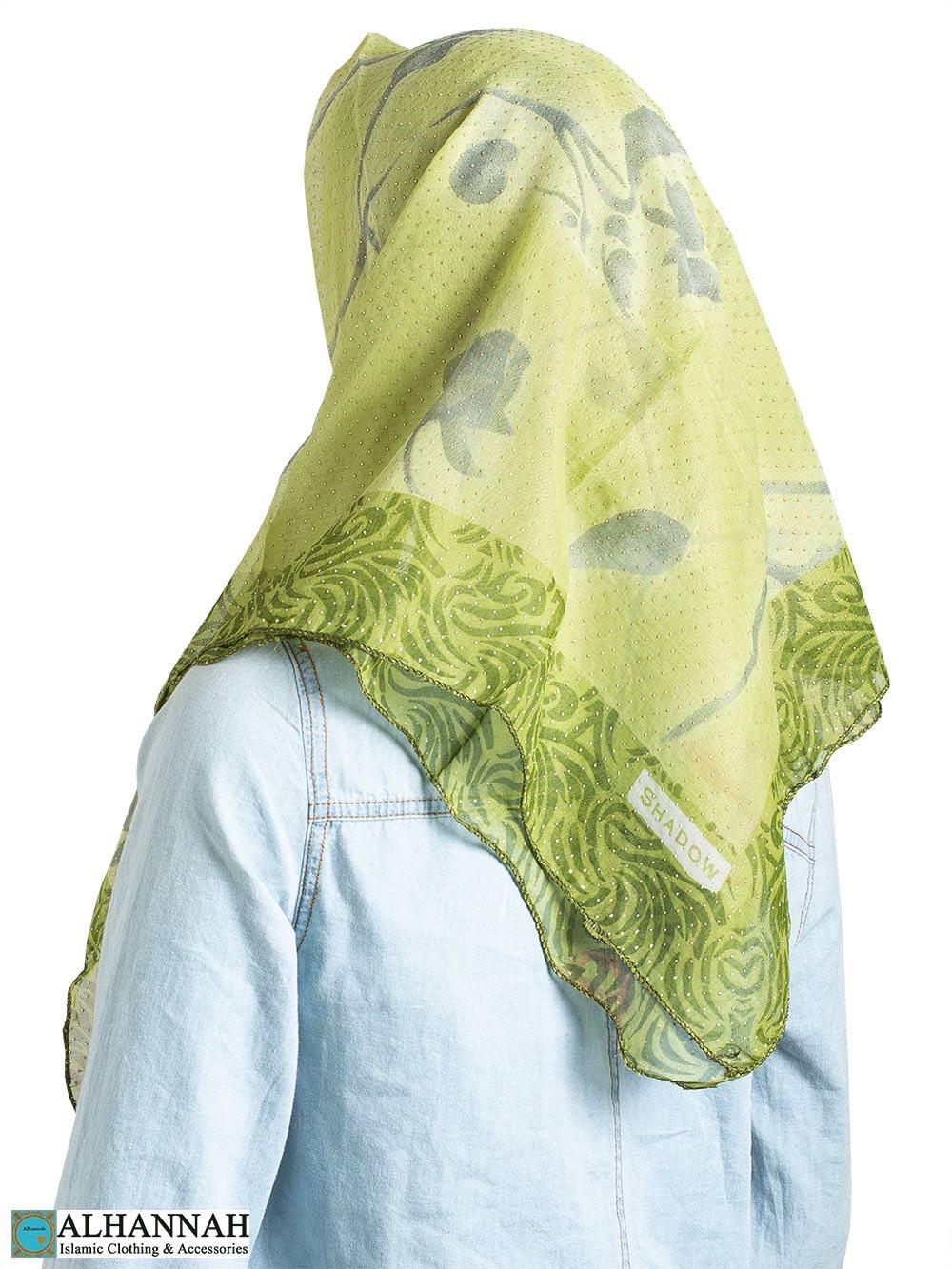 Spring Petals Beaded Square Hijab hi2335