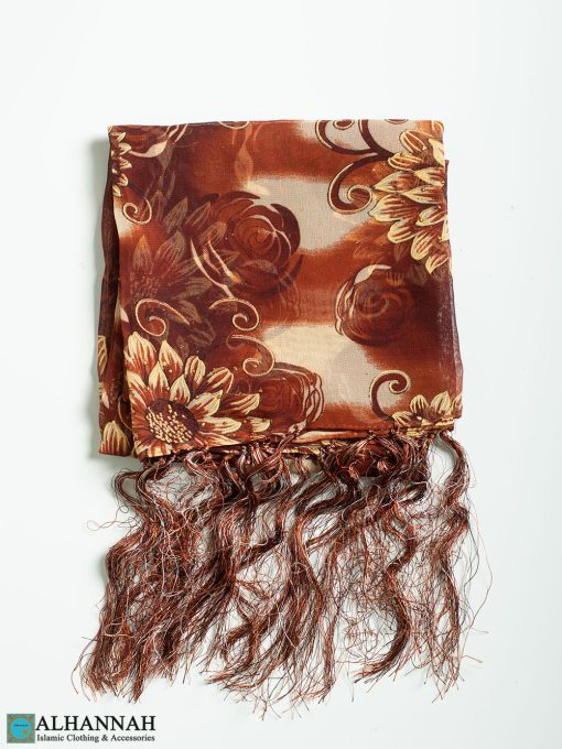 Sunflower-Sunset Tasseled Shayla Hijab hi2336