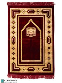 Turkish Prayer Rug - Kaaba Design Red