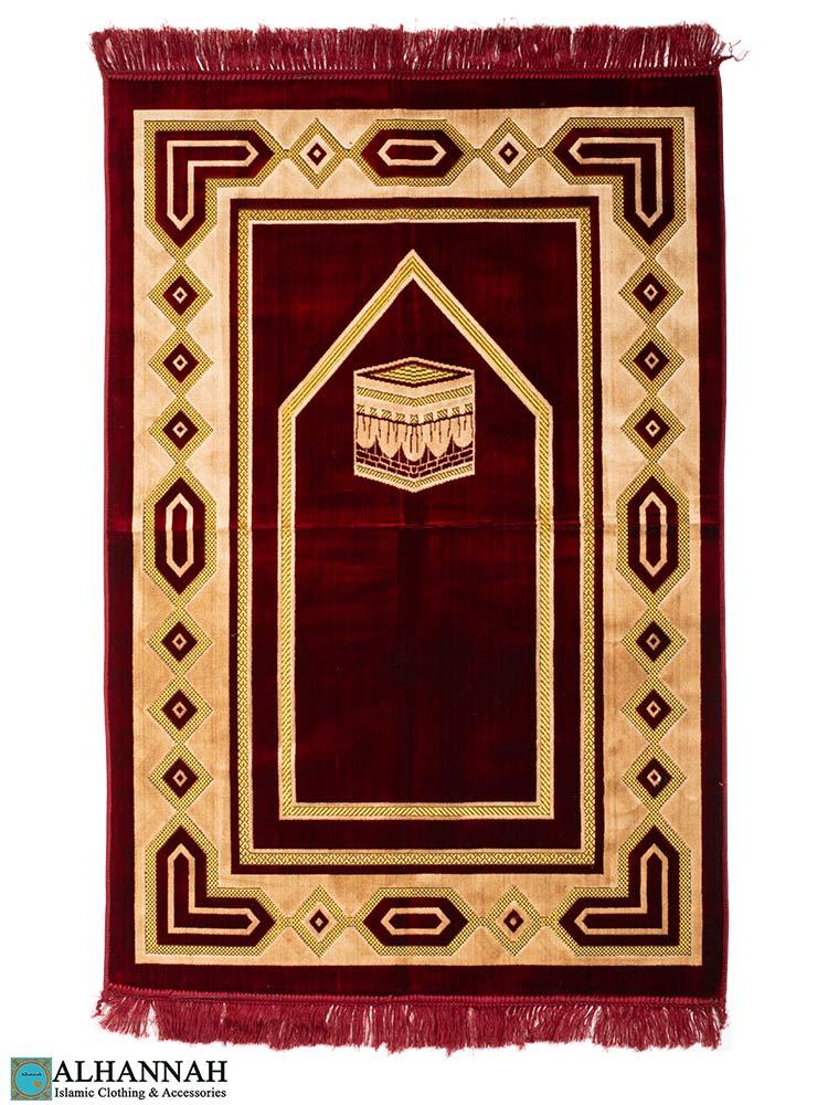 Turkish Prayer Rug - Kaaba Design Red