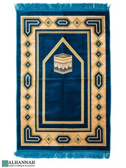 Turkish Prayer Rug - Kaaba Design Turquoise