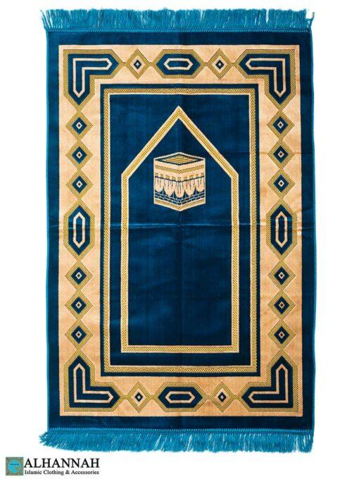 Turkish Prayer Rug - Kaaba Design Turquoise