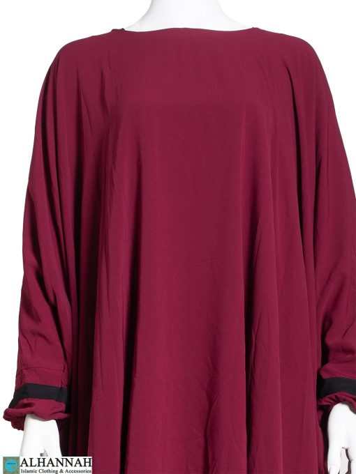 Two Piece Abaya in Maroon ab786