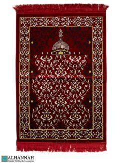 Islamic Prayer Rug Scrolling Vines Red
