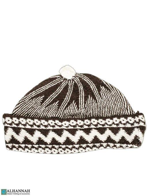 Muslim Wool Blend Cap - Brown-