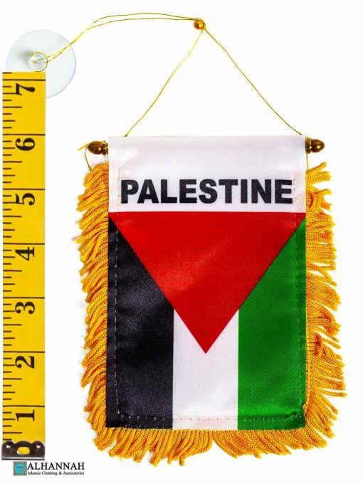 Palestinian Flag with Ruler