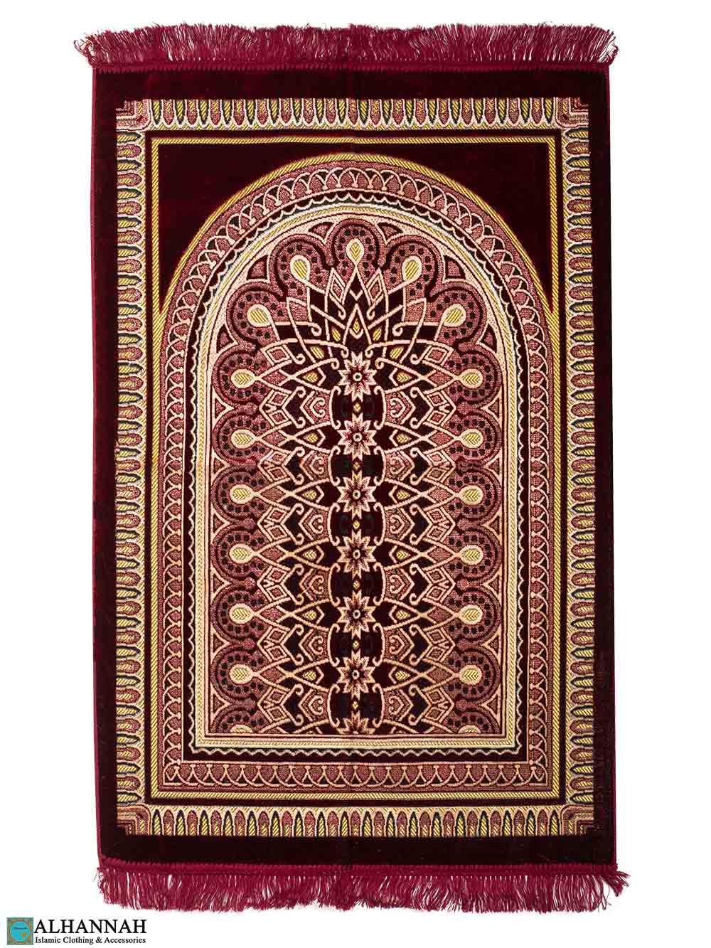 Prayer Rug Symmetry Design - Red
