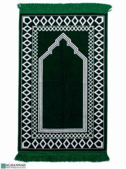 Prayer Rug with Diamond Border - Emerald