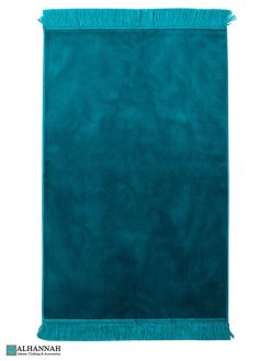 Solid Color Prayer Rug -Turquoise