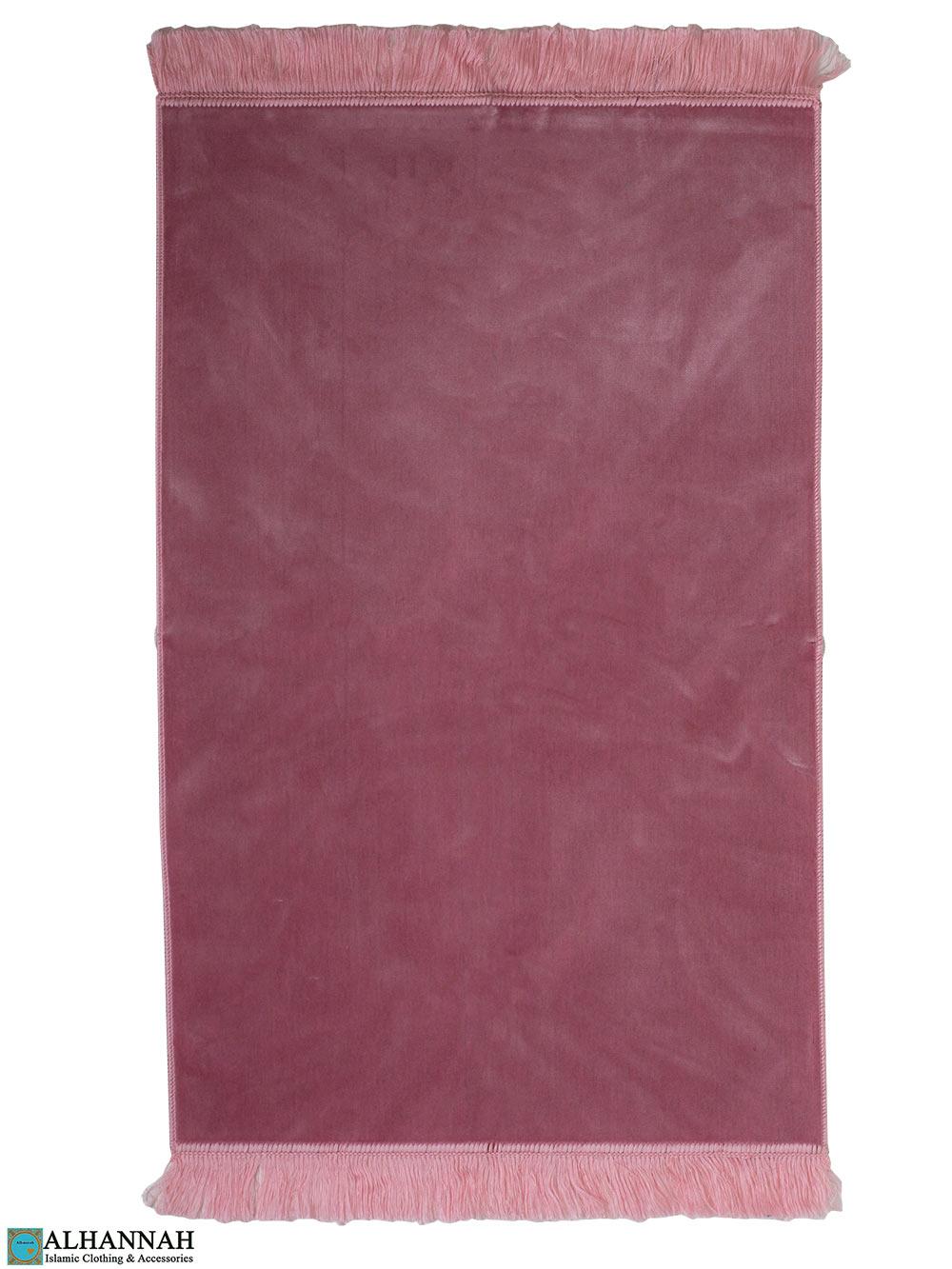 Solid Color Prayer Rug in Carnation