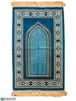 Turkish Prayer Rug – Geometric Design - Turquoise