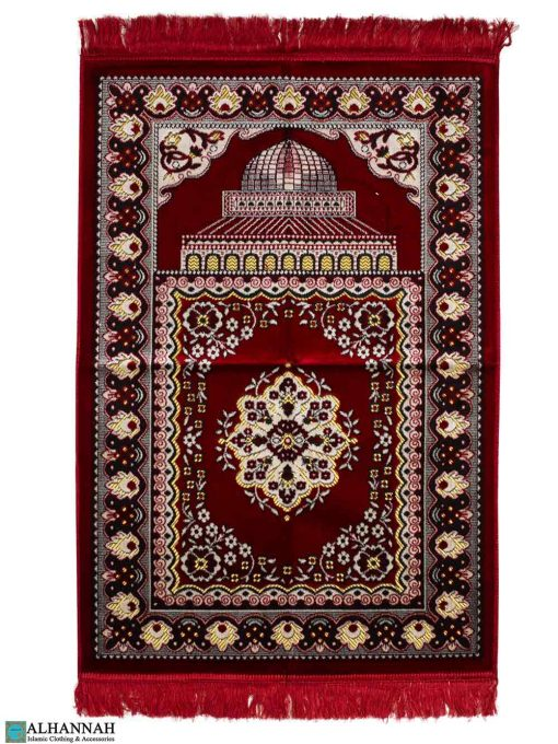 Turkish Prayer Rug Al Aqsa Masjid - Red