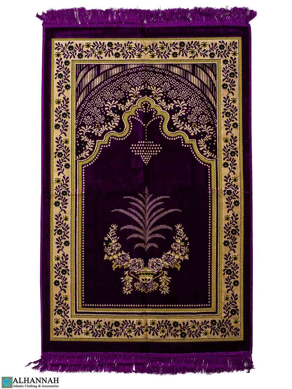 Turkish Prayer Rug - Chandelier Motif - Grape