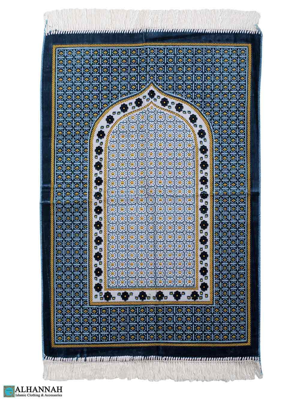 Turkish Prayer Rug - Geometric Pattern - Turquoise