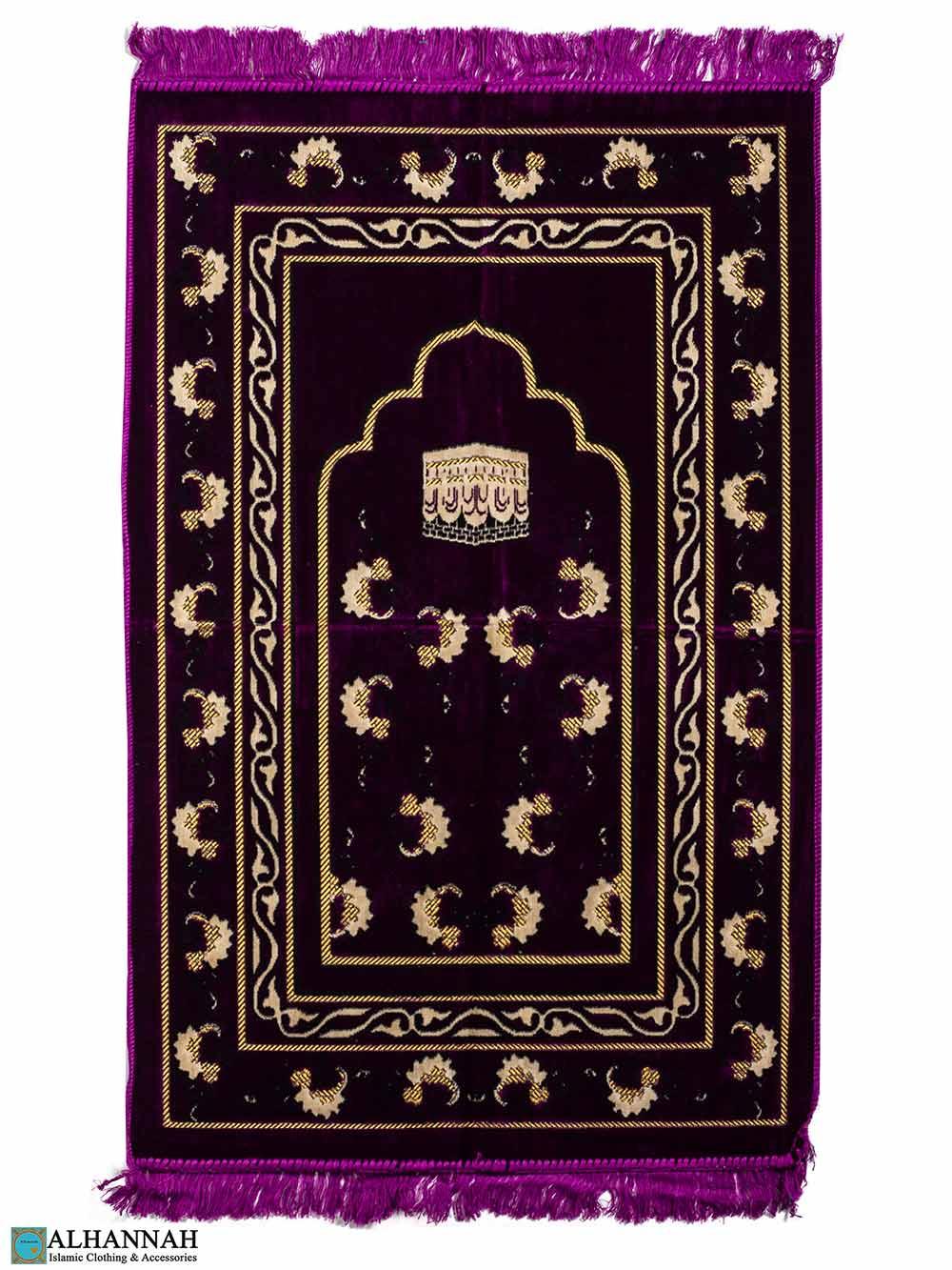 Turkish Prayer Rug Kaaba Motif - Grape