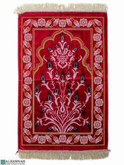 Turkish Prayer Rug Tulip Motif - Red