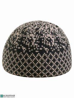 Black and Tan Kufi Cap