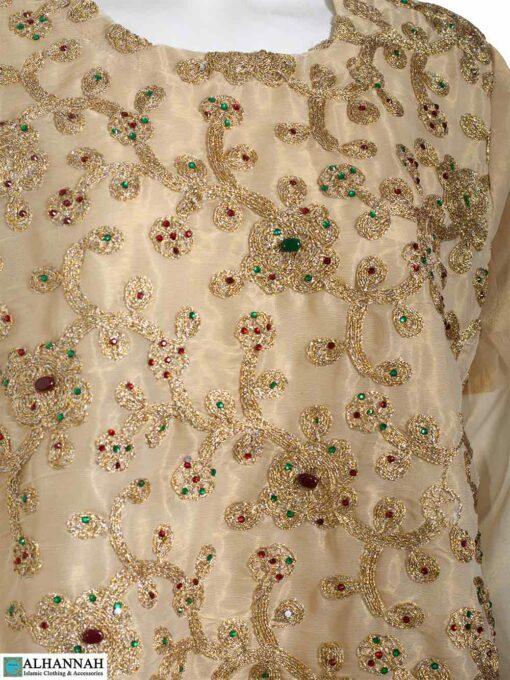 Embroidered Salwar Kameez with Sequins - Closeup