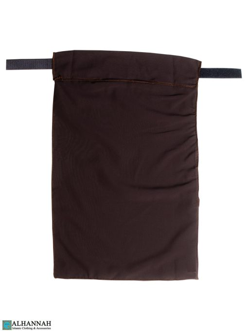 One Layer Niqab with Velcro Fastener - Brown