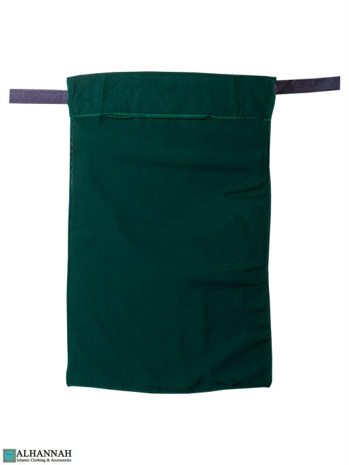 One Layer Niqab with Velcro Fastener - Green