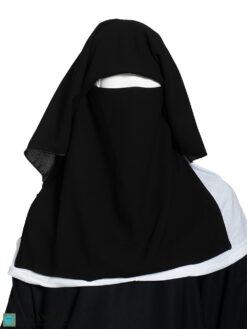 Two Layer Niqab NI160 black