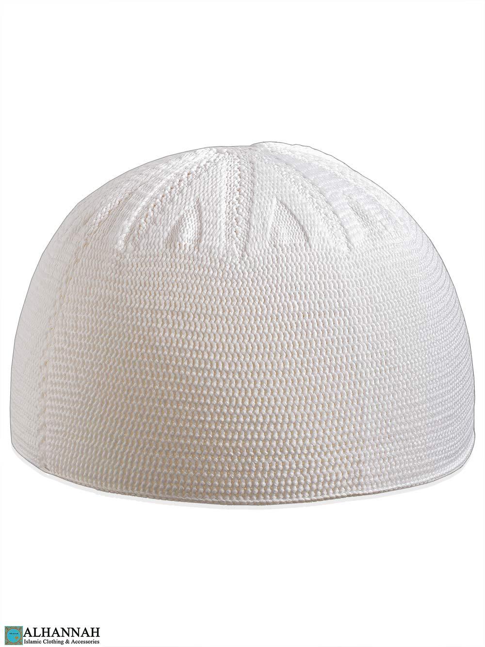 White Turkish Kufi Cap