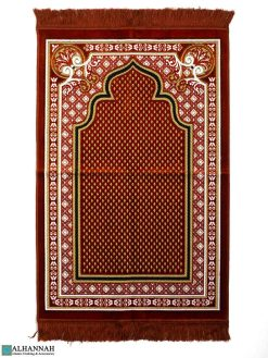 Islamic Prayer Rug in Paprika