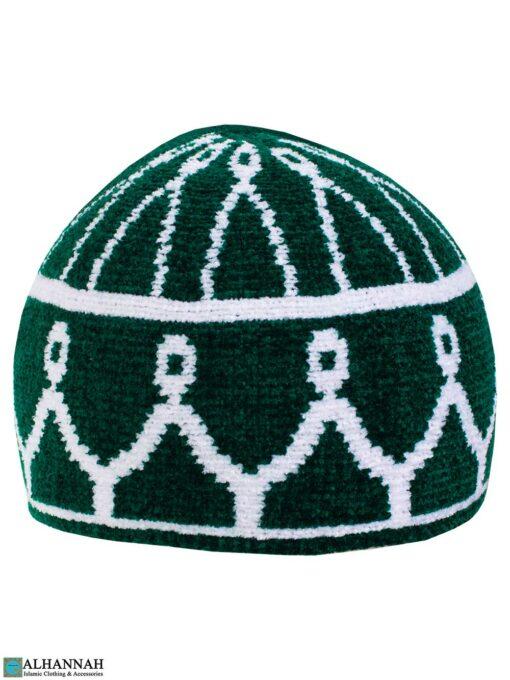 Masjid Pattern Turkish Kufi Hat Emerald