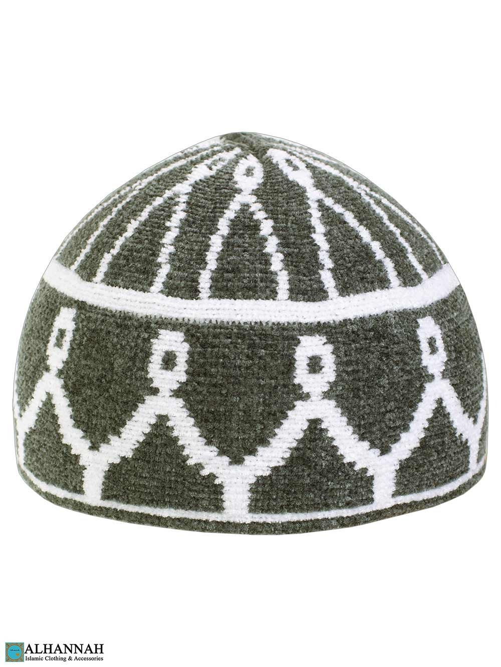 Masjid Pattern Turkish Kufi Hat - Grey
