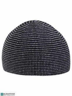 Melange Pattern Turkish Kufi Hat in Black