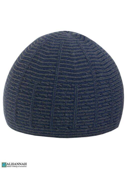 Striped Turkish Kufi Hat - Navy