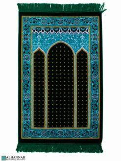 Triple Arch Turkish Prayer Rug - Green