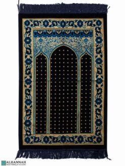 Triple Arch Turkish Prayer Rug - Navy