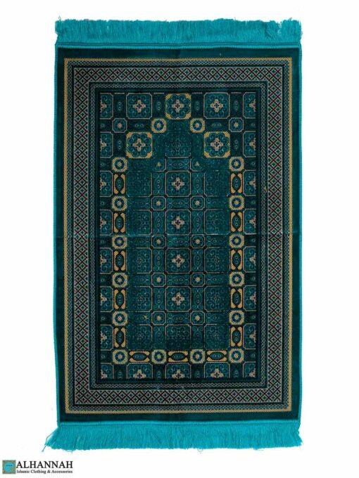 Turkish Prayer Rug - Turquoise Print