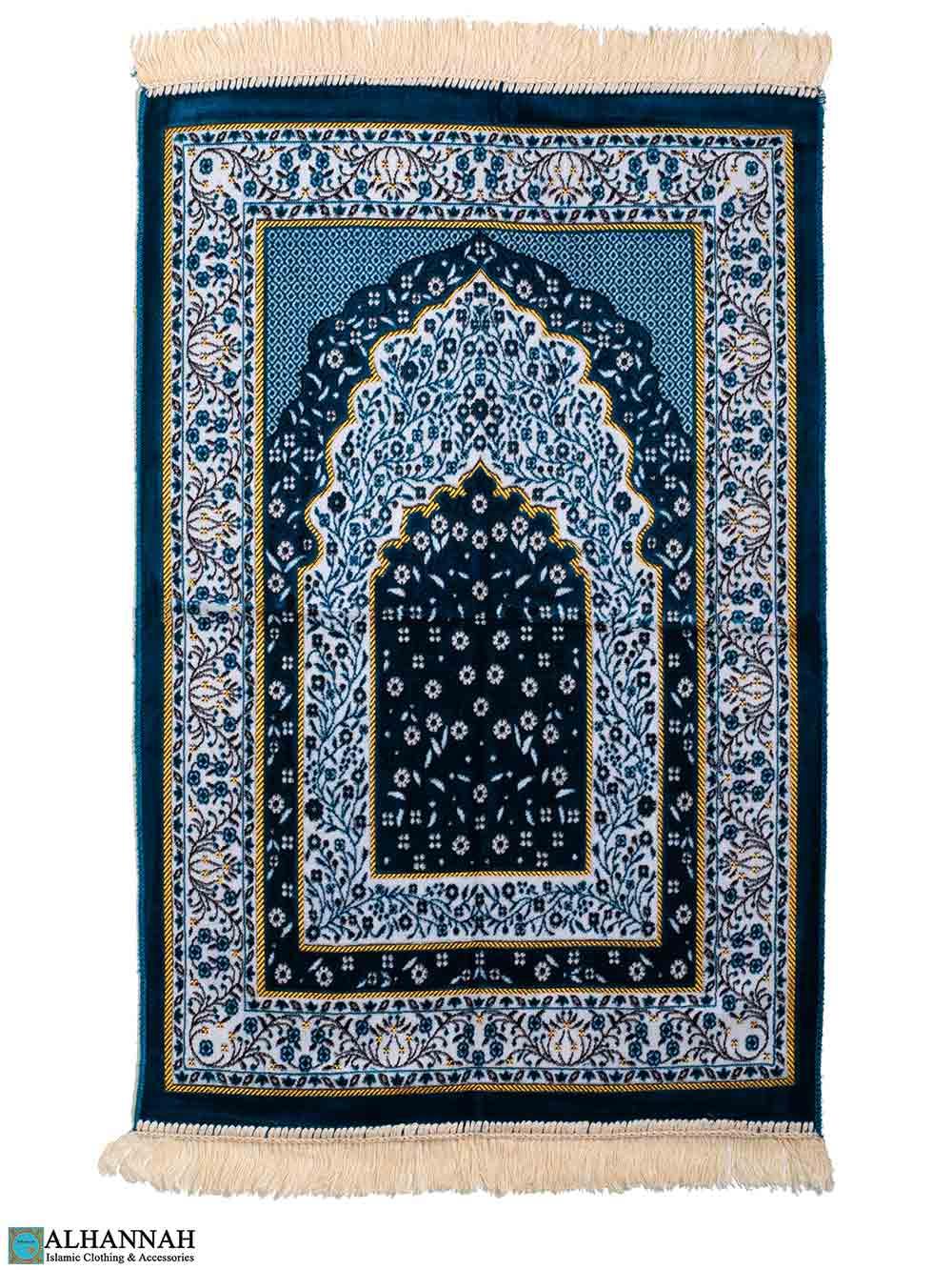 Turkish Prayer Rug in Turquoise