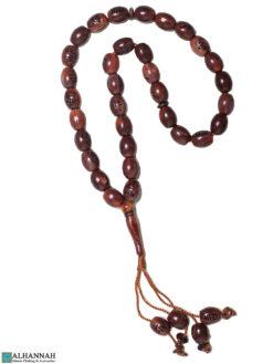 Allah Muhammad Tasbih Beads 33 Mahogany