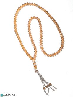 Crystal Prayer Beads 99 Amber Tones