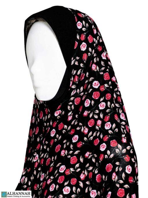 2 Piece Prayer Outfit - Pink Rose Buds Close Up