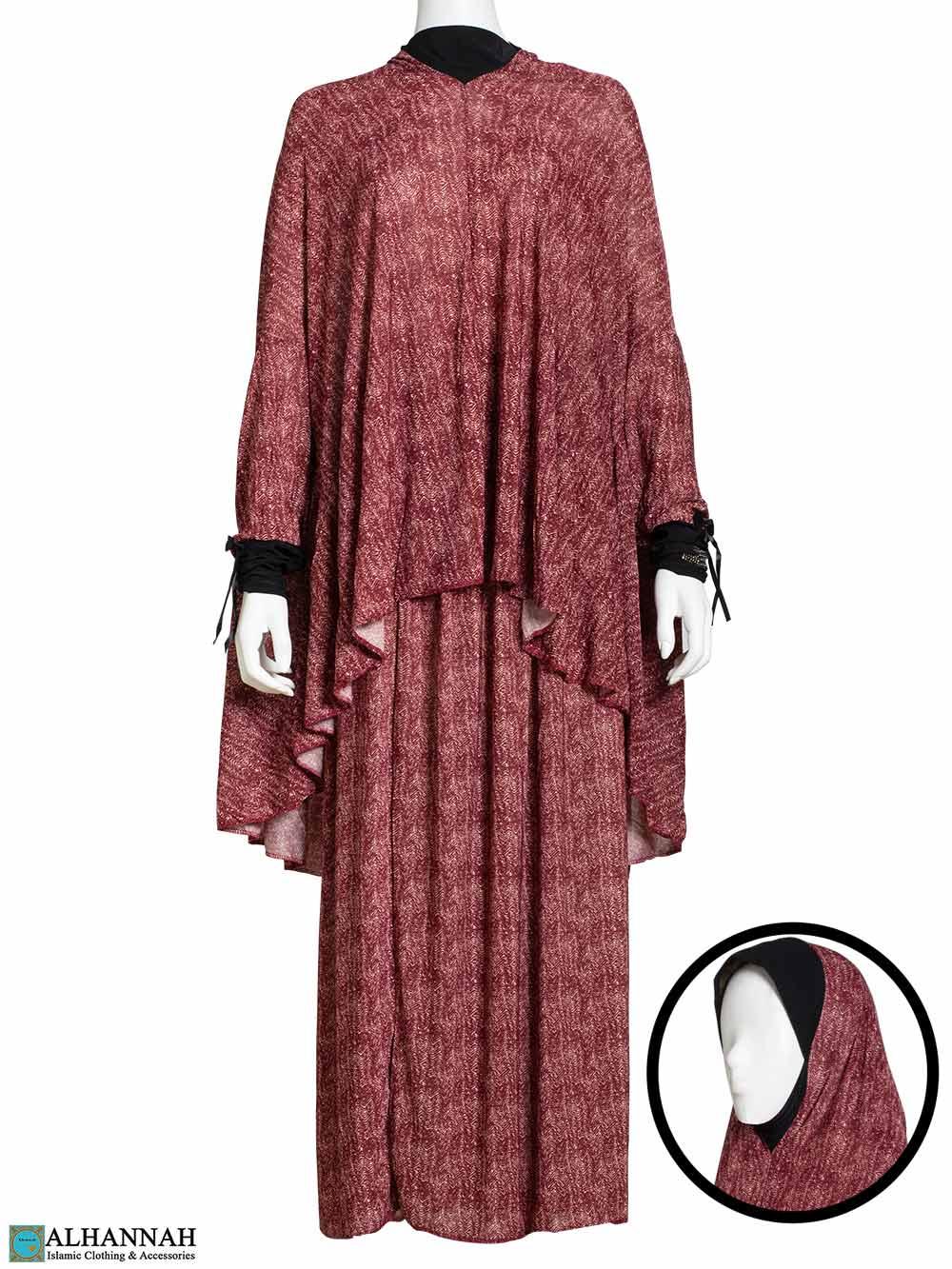 2 Piece Prayer Outfit - Cranberry
